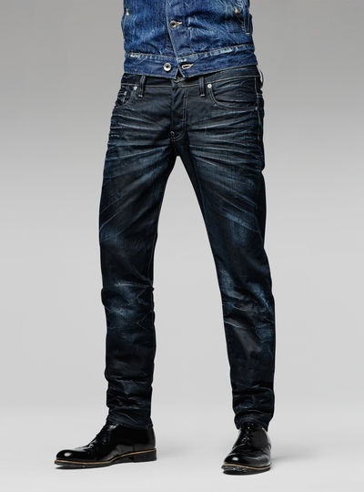 3301  low waist tapered  jeans