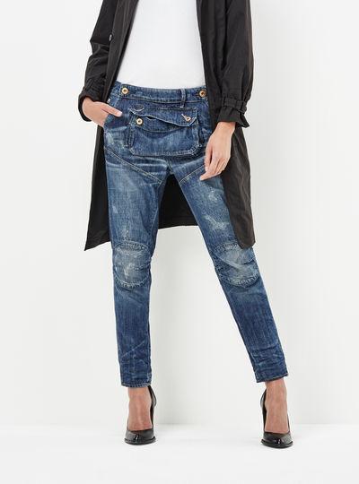 5620 3D Pouch High Waist Boyfriend Jeans
