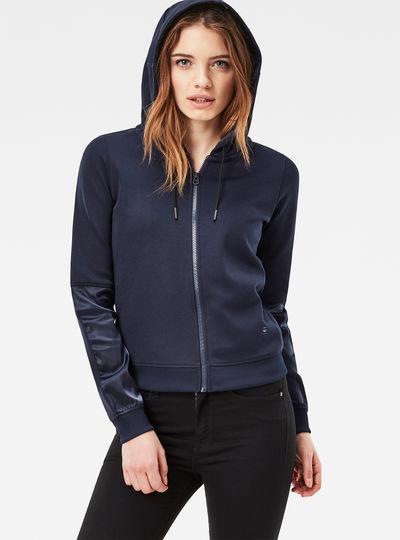 Craia Fyx Biker Hooded Zip Sweater