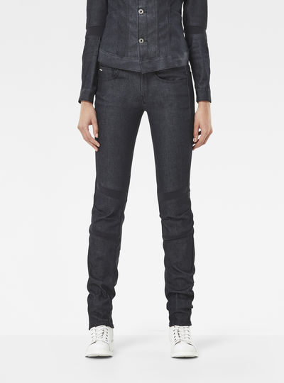 Motac Deconstructed 3D Mid Waist Skinny Jeans