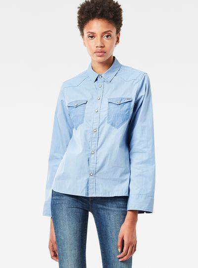 Tacoma Wide-Sleeve Boyfriend Cropped Shirt