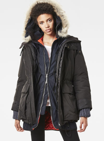 Artol 2-Piece Hooded Boyfriend Parka