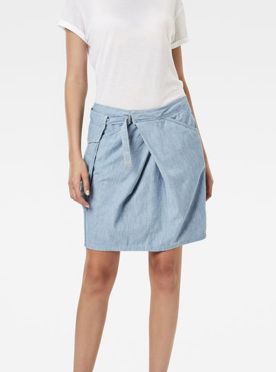 Rovic Pocket Wrap Midi Skirt