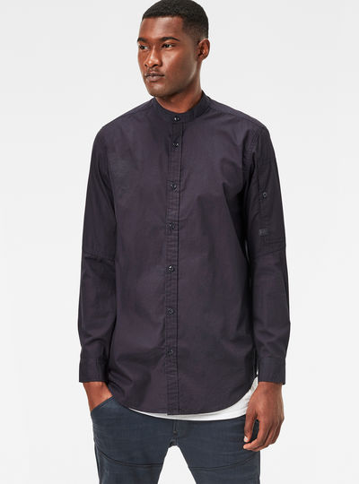 Stalt Collarless Clean Long Shirt