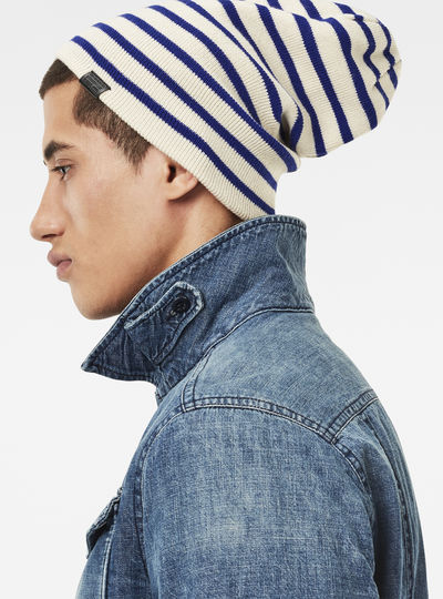 Effo Stripe Long Beanie