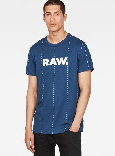 Pinstripe X25 Print T-Shirt