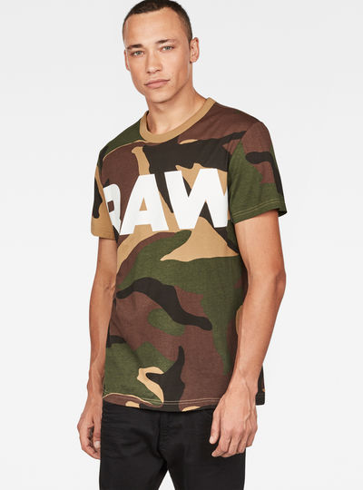 Woodland Camouflage X25 Print T-Shirt