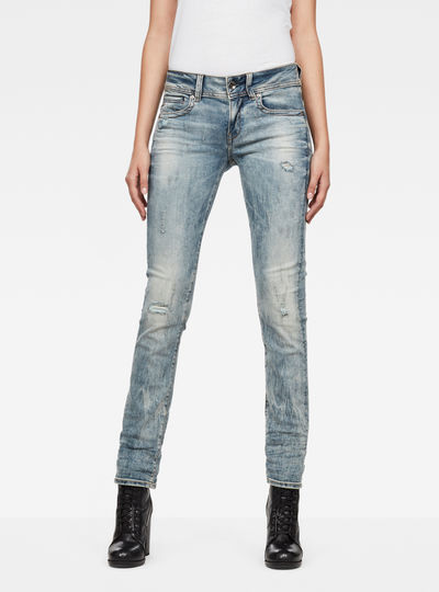 Midge Saddle Mid-Waist Straight Jeans
