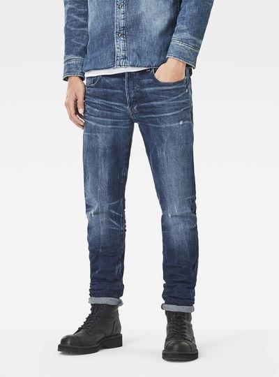 3301 Red Listing Slim Jeans