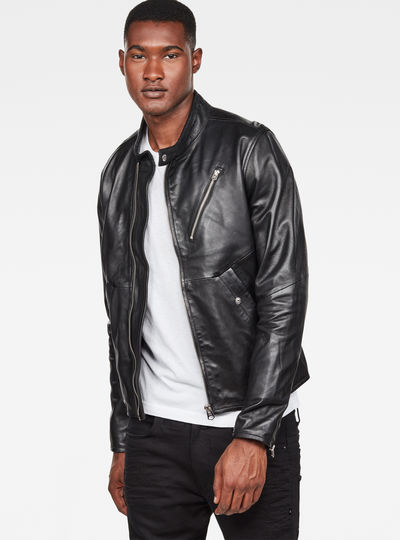 Empral Deconstructed Leather Biker Jacket