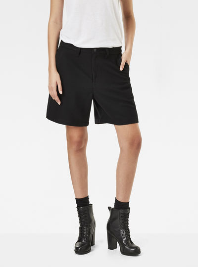 Bronson High Waist Bermuda Chino Shorts