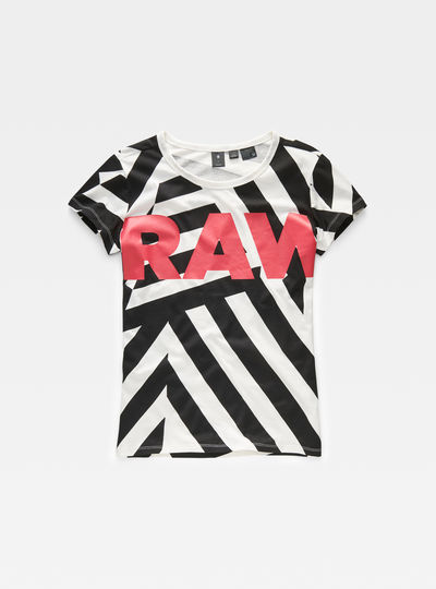 Dazzle Camouflage X25 Print Straight T-Shirt