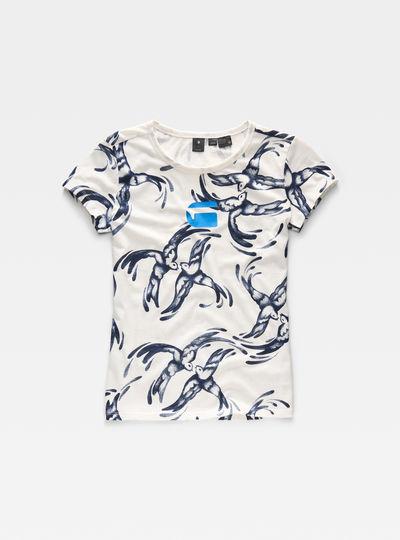 Chinoiserie X25 Print Straight T-Shirt
