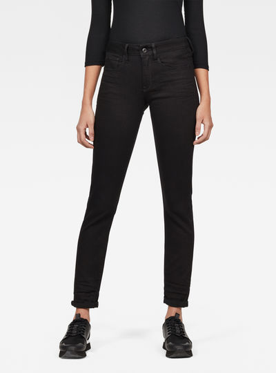 3301 Deconstructed Mid-Waist Straight Jeans