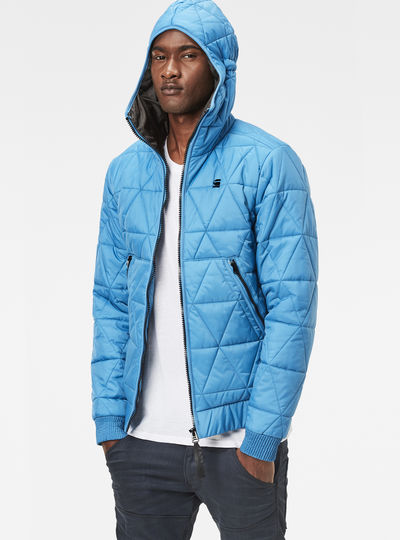 Strett Utility Quilted Hooded Jacket