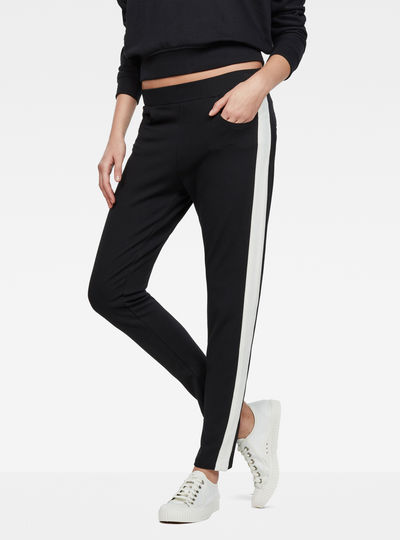 D-Staq Deconstructed Stripe Sweatpants