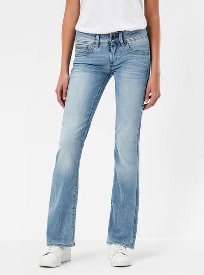 Midge Saddle Mid Waist Bootleg Jeans