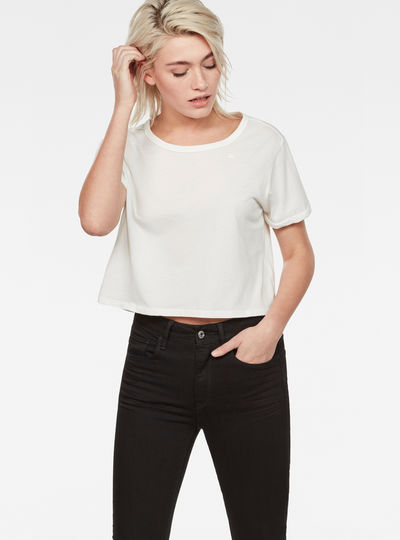 Collow Straight Cropped T-Shirt