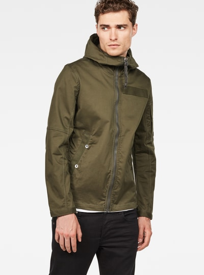 Batt Hooded Slim Overshirt