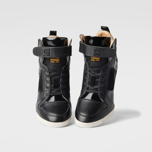 g star raw women shoes yard wedge belle giltedge black. Black Bedroom Furniture Sets. Home Design Ideas
