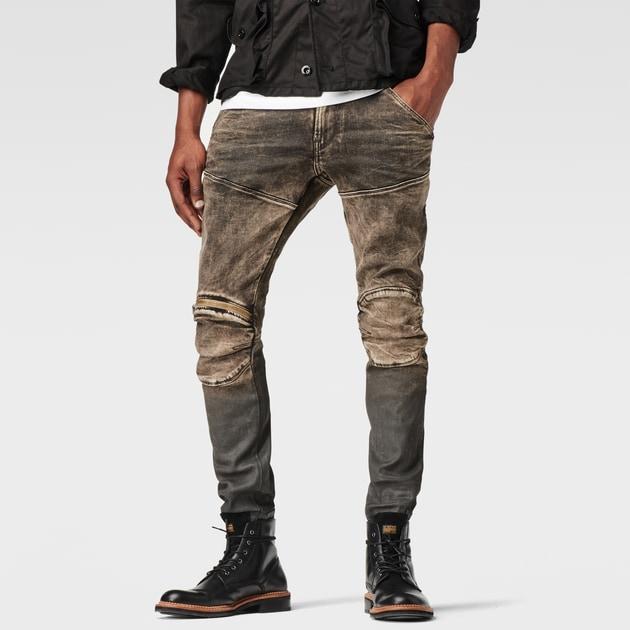 g star raw men pants 5620 g star elwood 3d zip knee super slim jeans med aged cob 48. Black Bedroom Furniture Sets. Home Design Ideas