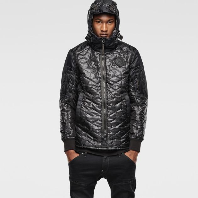 g star raw men jackets coats batt hooded lightweight jacket black. Black Bedroom Furniture Sets. Home Design Ideas