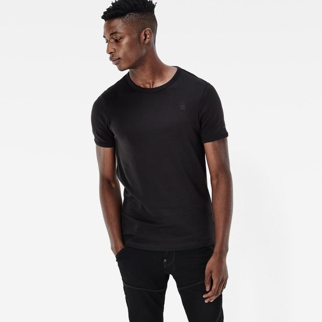 star raw men t shirts basic t shirt 2 pack black. Black Bedroom Furniture Sets. Home Design Ideas