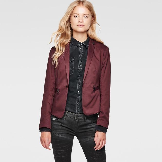 star raw women jackets blazers new olivia slim blazer dark. Black Bedroom Furniture Sets. Home Design Ideas