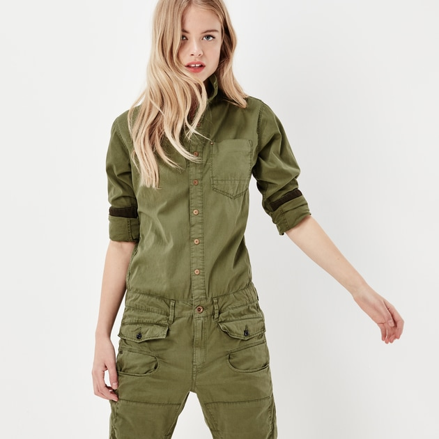 g star raw women jumpsuits overalls army radar boyfriend boilersuit dark moss. Black Bedroom Furniture Sets. Home Design Ideas