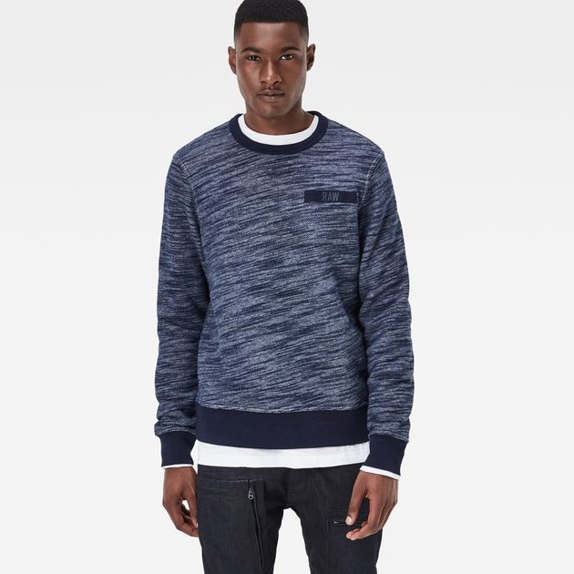 star raw men sweatshirts hoodies icket sweater indigo. Black Bedroom Furniture Sets. Home Design Ideas