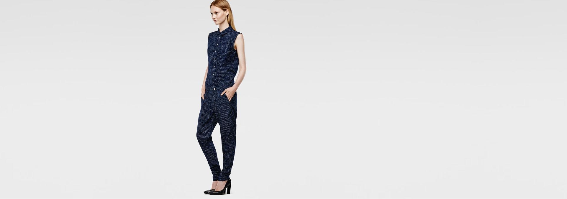 g star raw women pants lancer jumpsuit rinsed. Black Bedroom Furniture Sets. Home Design Ideas
