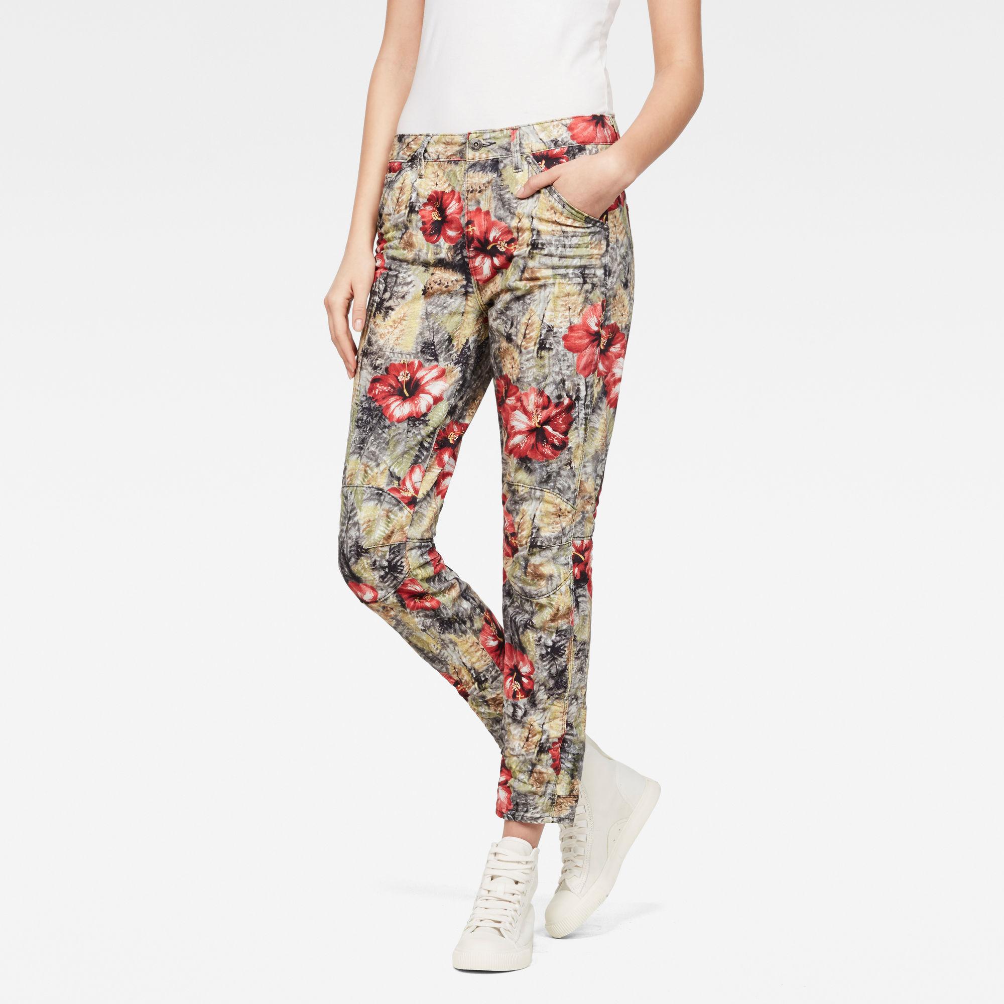 G-Star RAW Dames 5622 3D Mid waist Boyfriend Color Jeans Rood