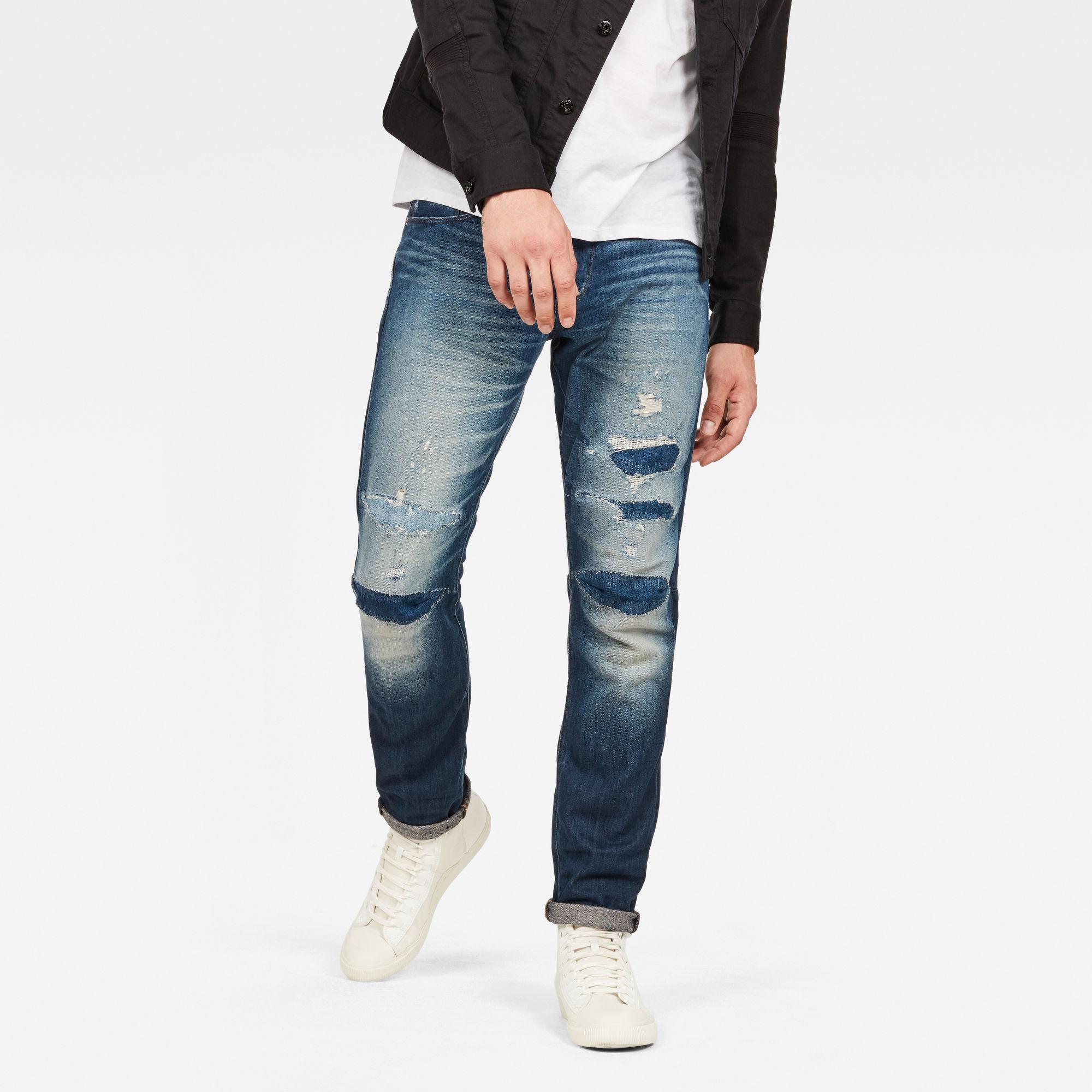 G-Star RAW Heren 3301 Tapered 3D-Restored Jeans Blauw