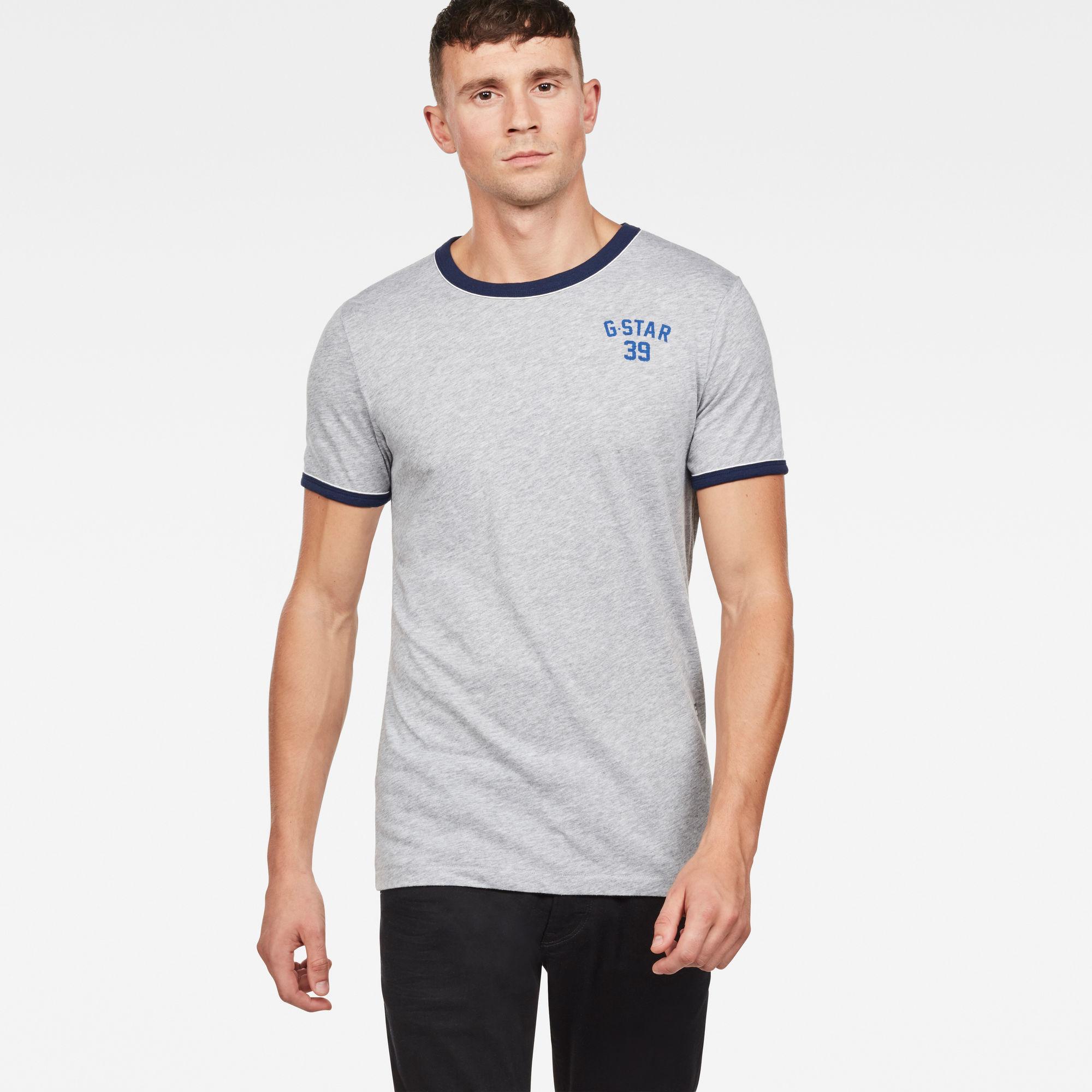 G-Star RAW Heren Polyca Slim T-Shirt Grijs