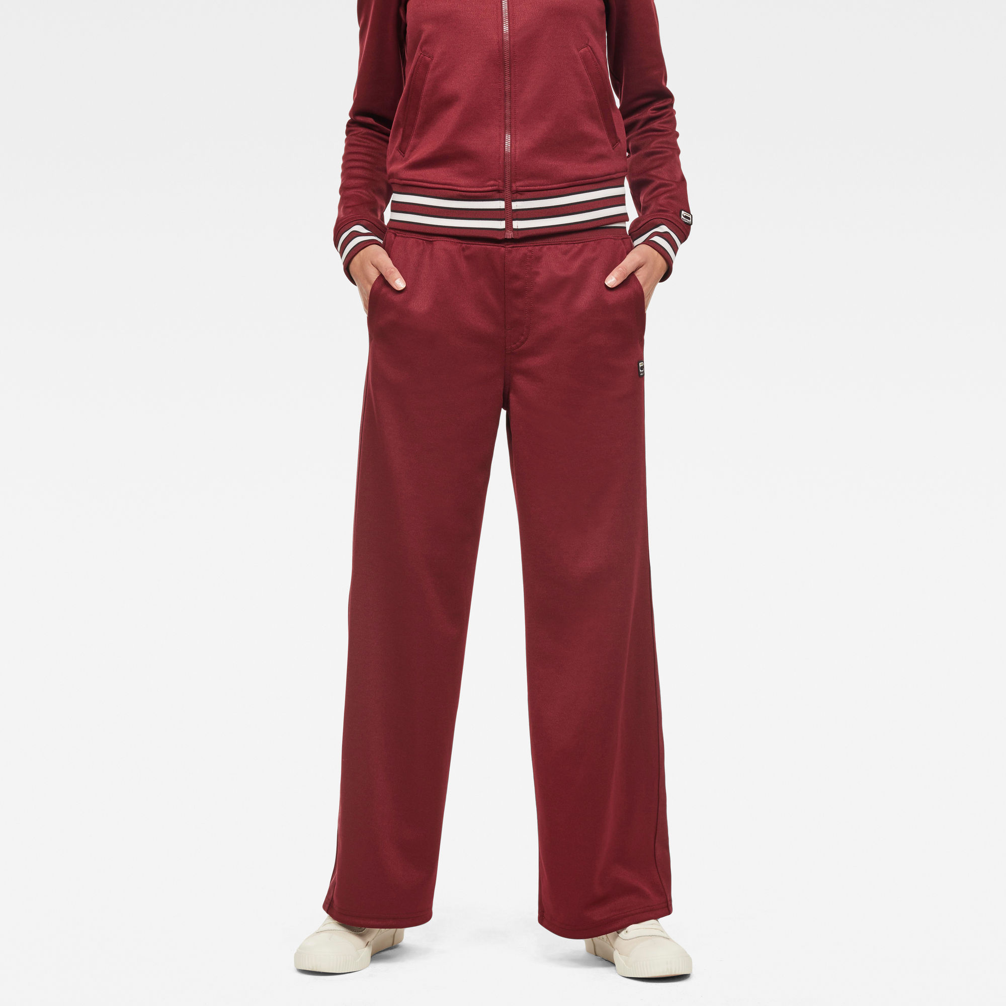 G-Star RAW Dames Lucay Wide Trackpant Rood