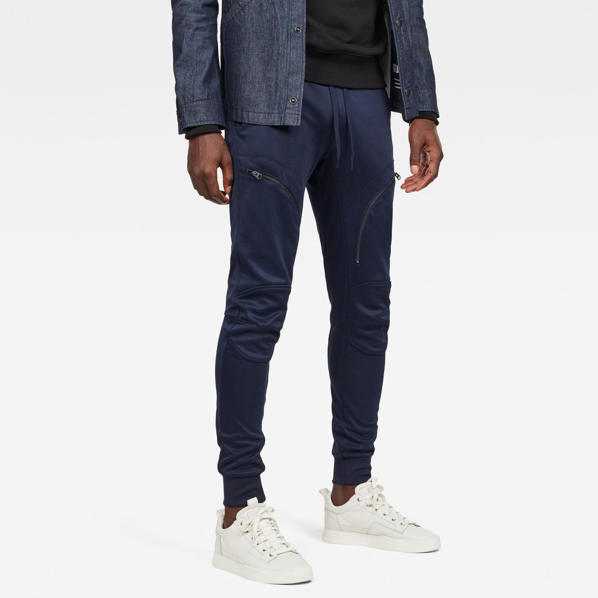 G-Star RAW Heren Air Defence Zip 3D Slim Sweatpants Donkerblauw