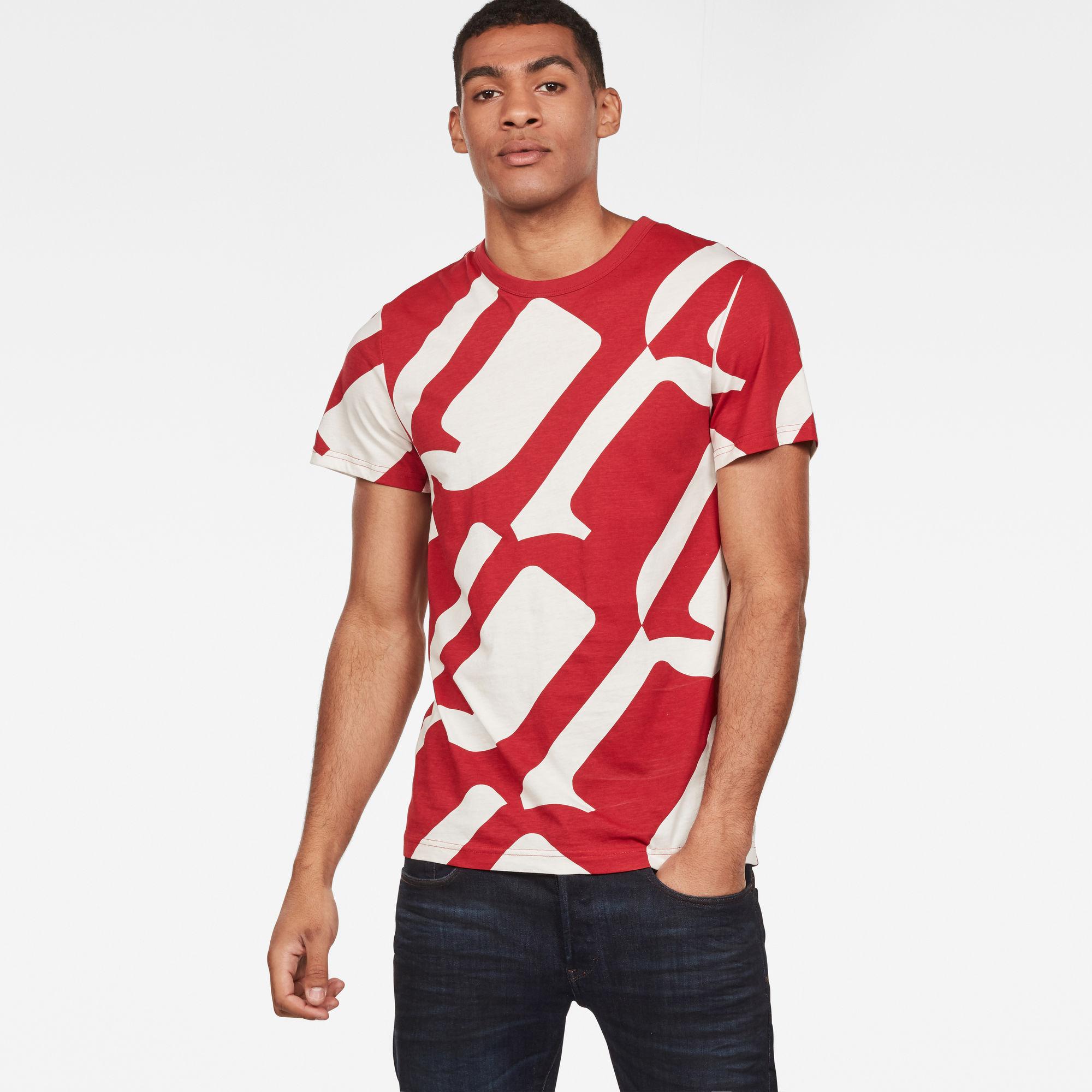 G-Star RAW Heren Hyce T-Shirt Rood