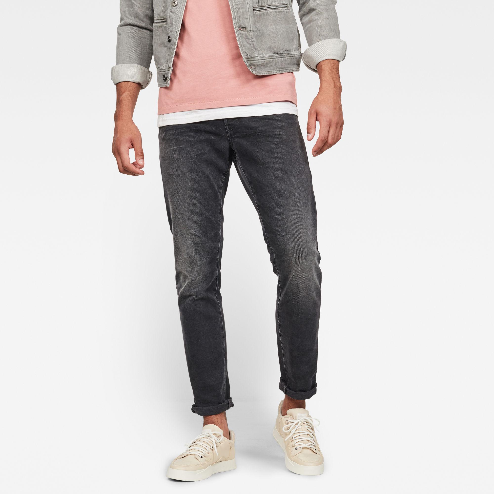 G-Star RAW Heren 3301 Regular Tapered Jeans Zwart