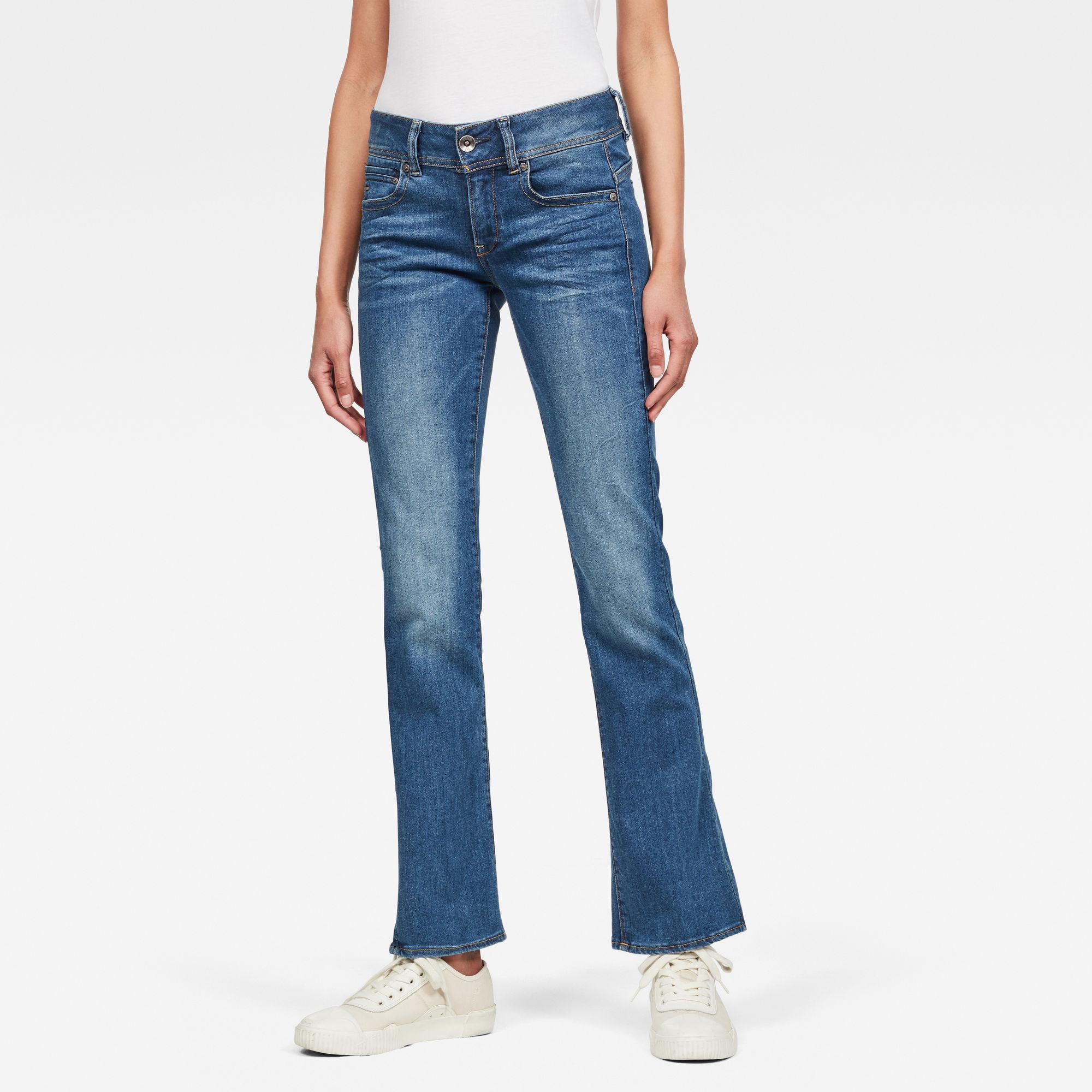 G-Star RAW Dames Midge Mid Bootcut Jeans Blauw