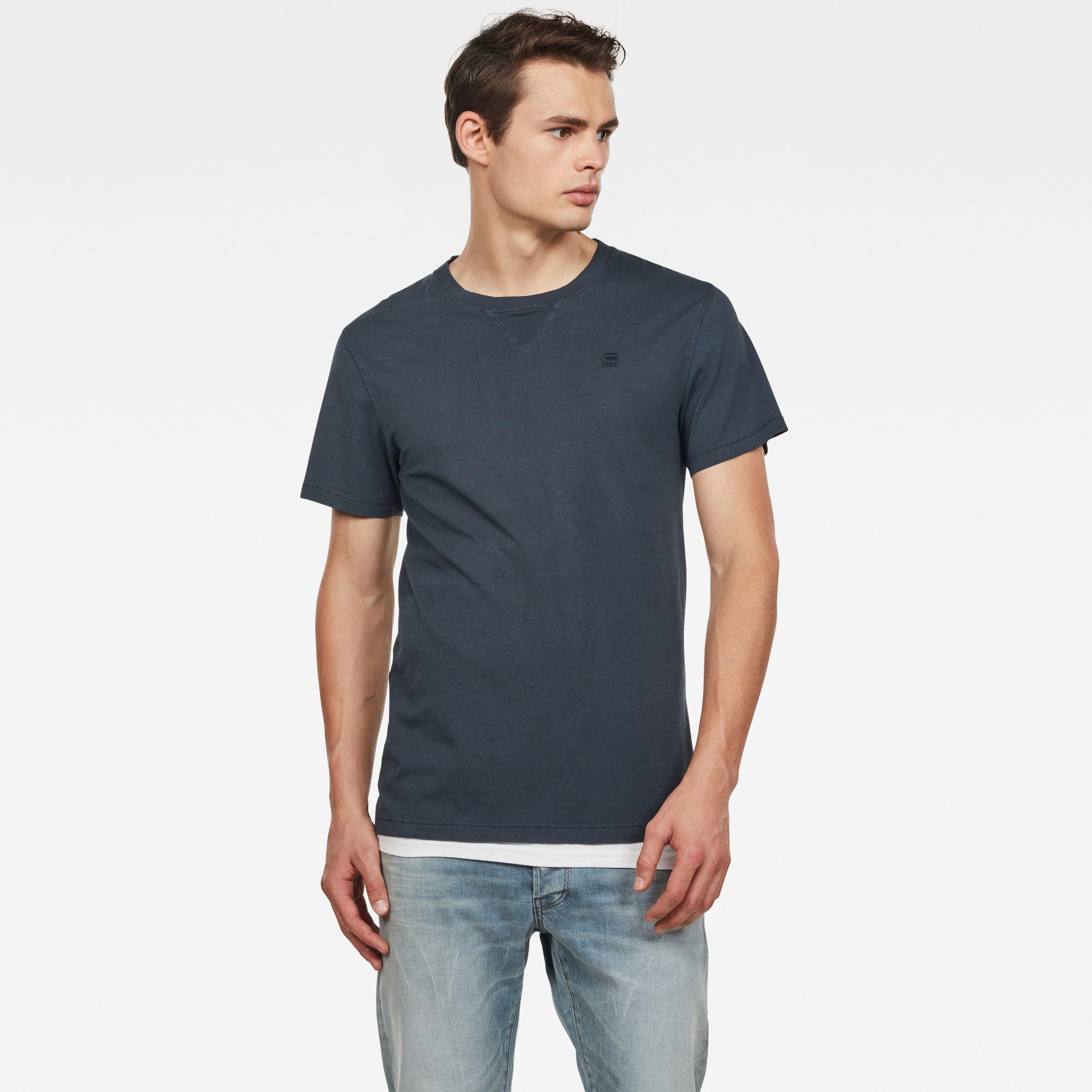 G-Star RAW Heren Earth Ronde Hals T-Shirt Donkerblauw