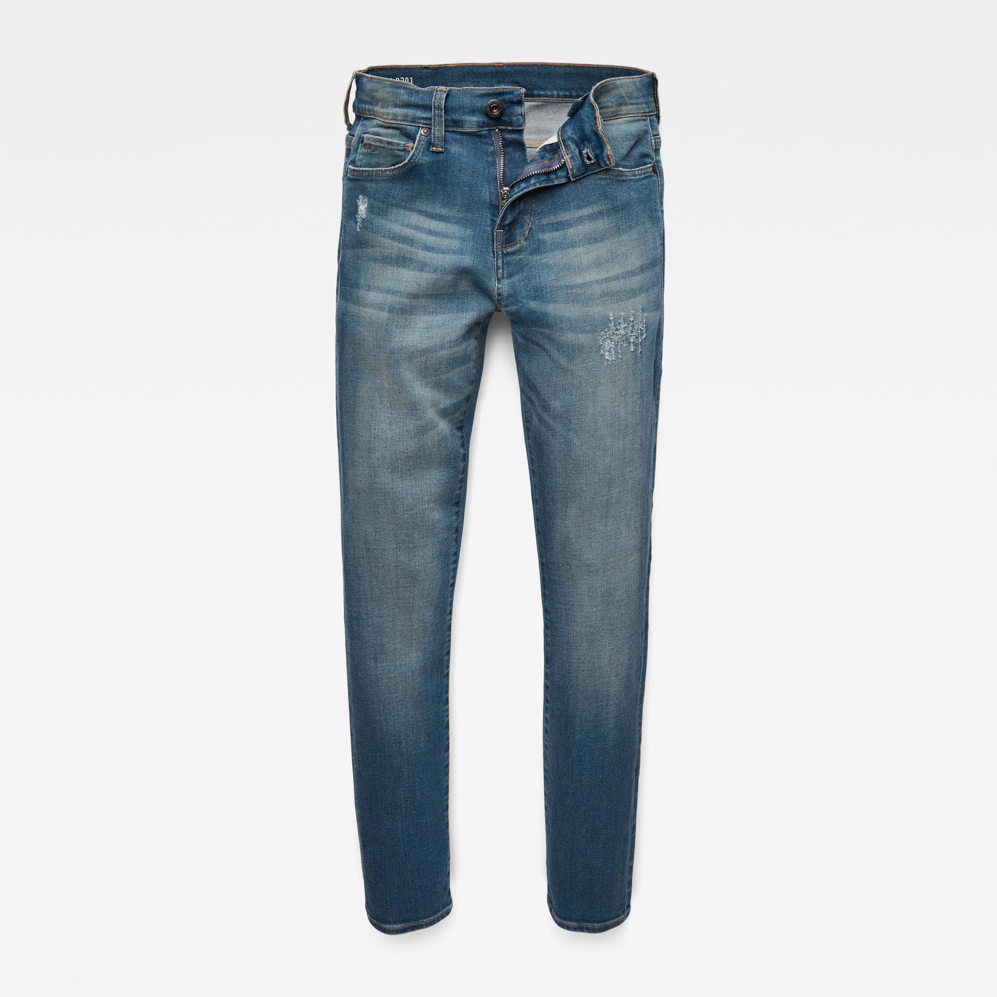 G-Star RAW Jongens 3301 Slim Jeans Blauw