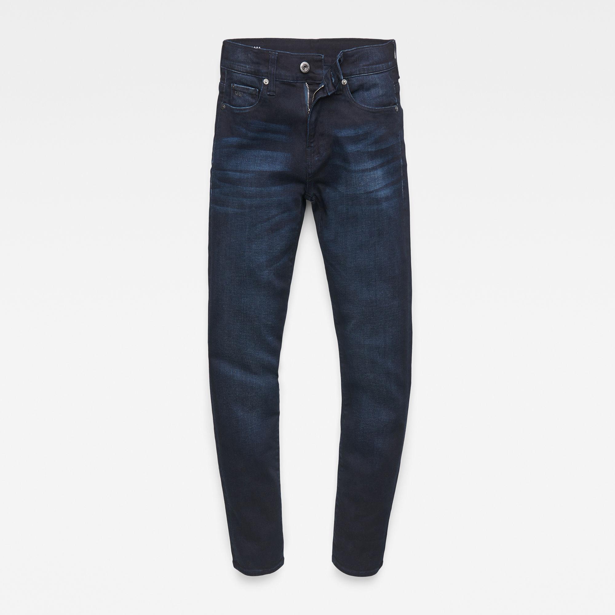 G-Star RAW Jongens 3301 Slim Jeans Donkerblauw