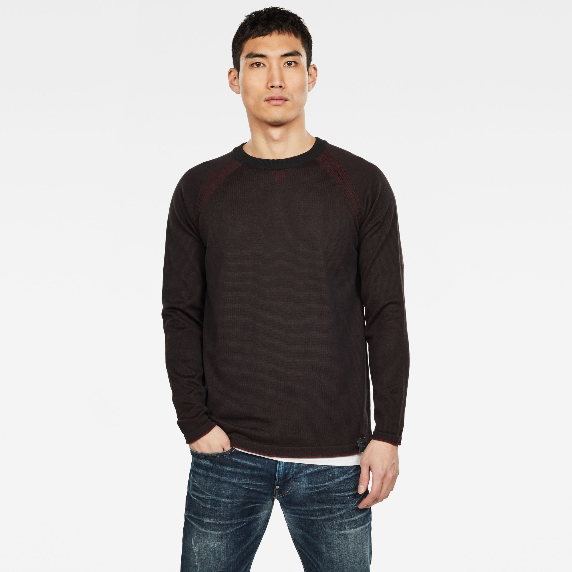 G-Star RAW Hommes Pull en maille Core Straight Rouge