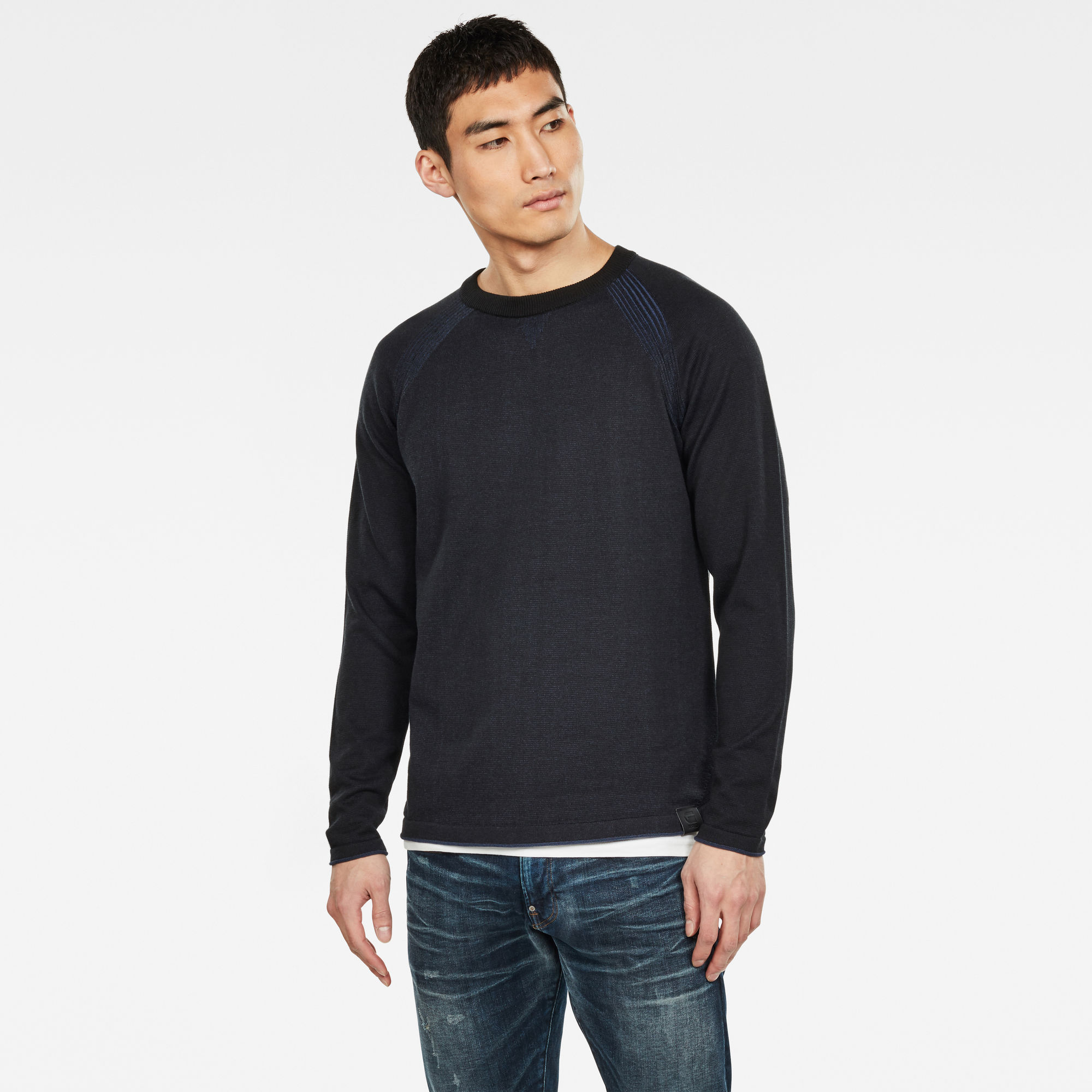 G-Star RAW Hommes Pull en maille Core Straight Noir
