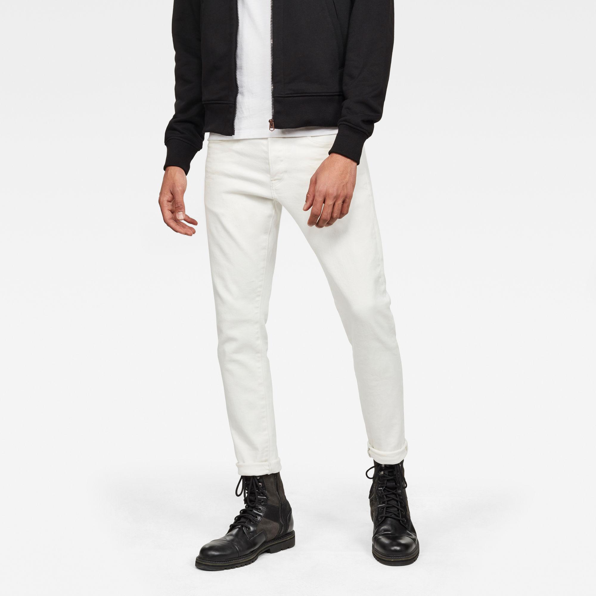 3301 Slim Jeans Wit