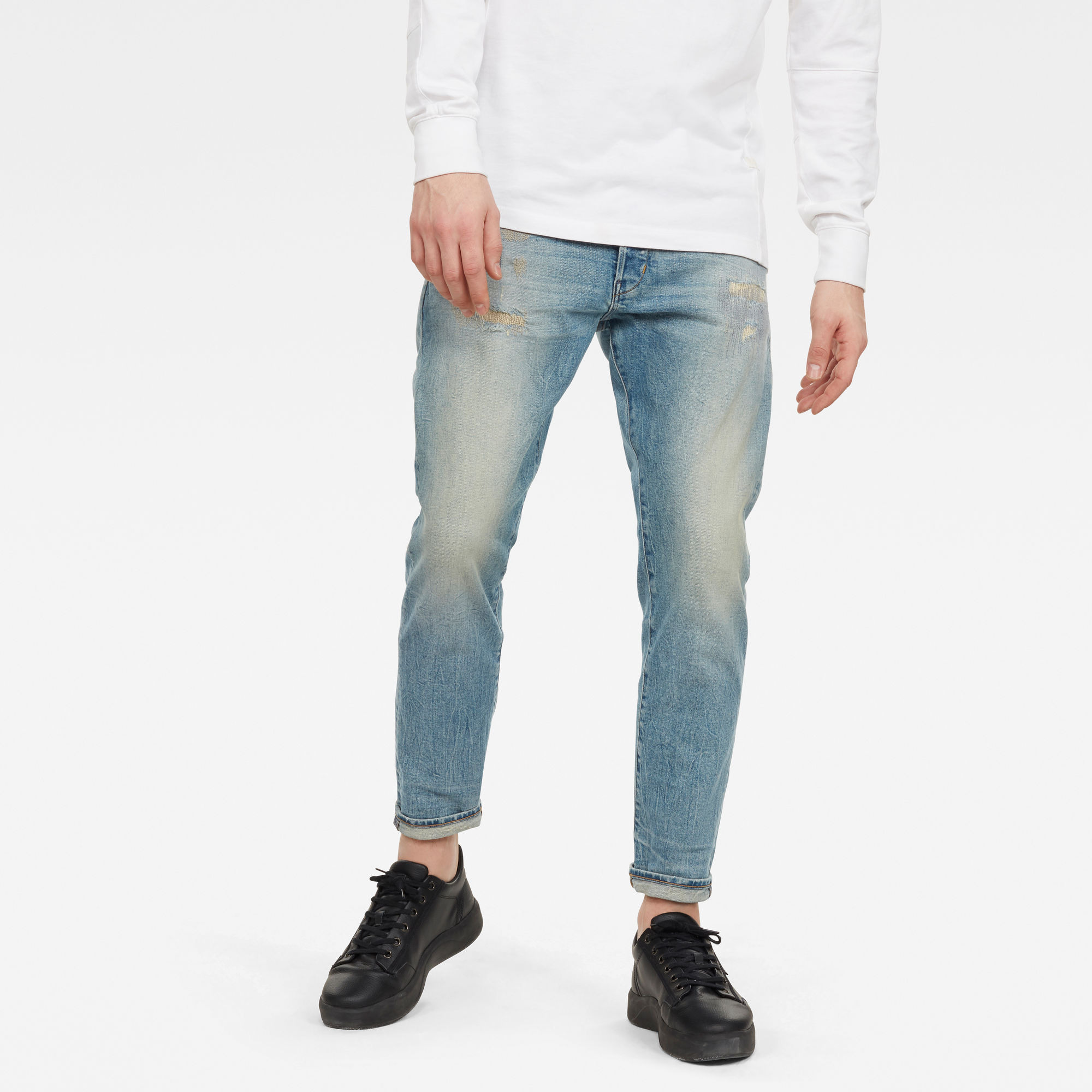 G-Star RAW Mujer Jeans Loic Relaxed Tapered Azul claro