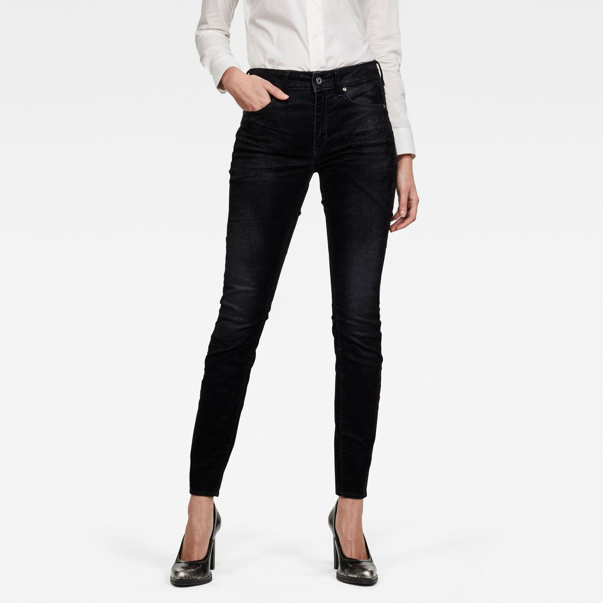 G-Star RAW Dames 3301 High Waist Skinny Jeans Zwart