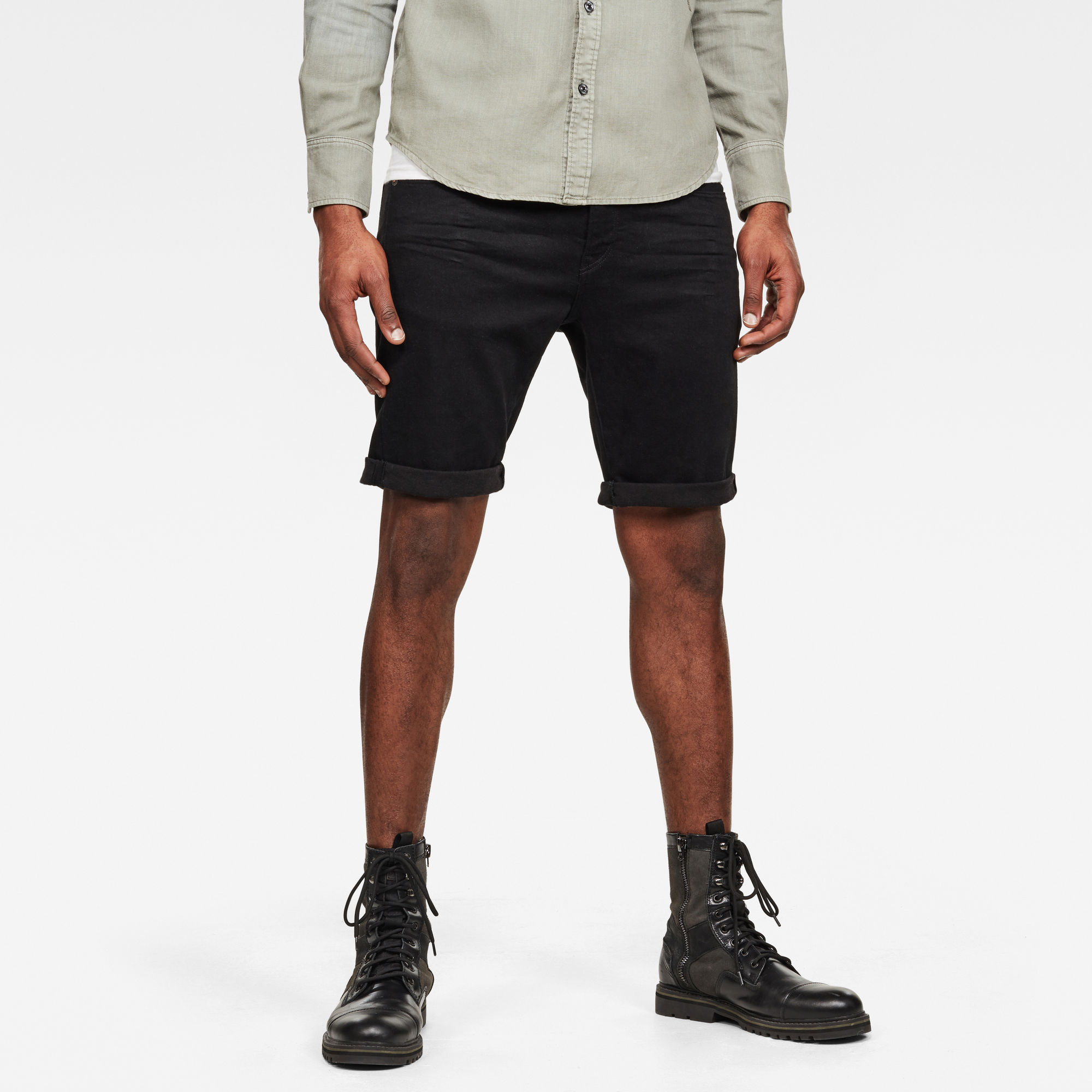 G-Star RAW Heren 3301 Slim Short Zwart