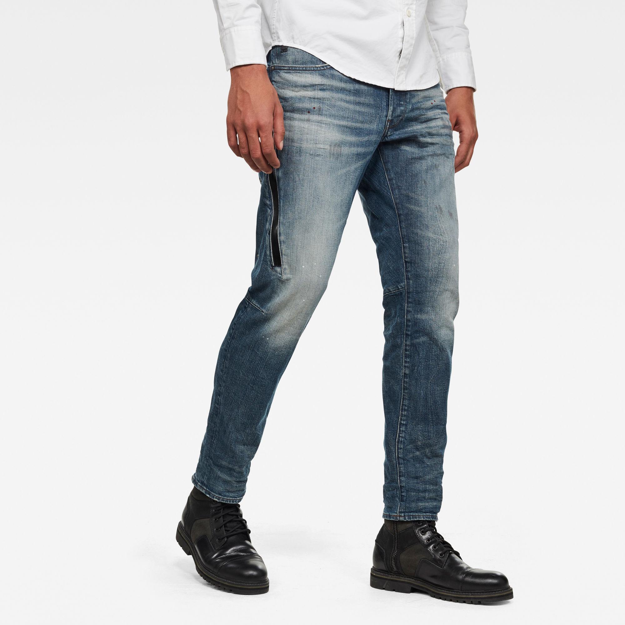 G-Star RAW Heren Citishield 3D Slim Tapered Jeans Blauw