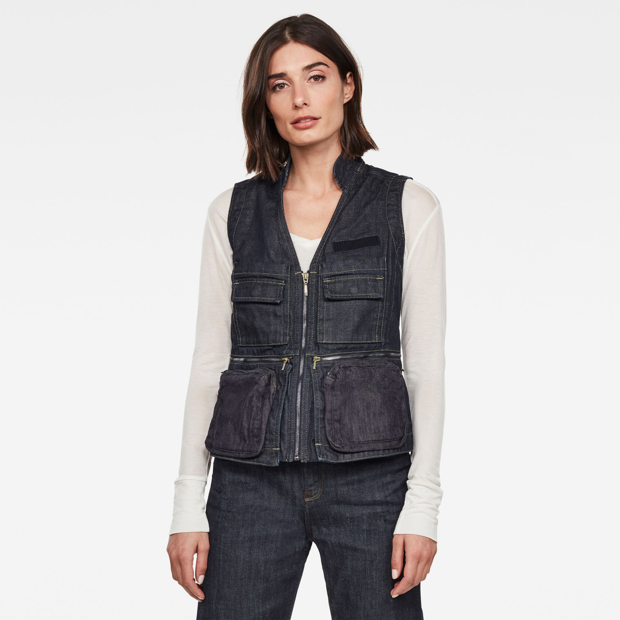G-Star RAW Dames GSRR Hito Gilet Donkerblauw